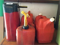 Lot of (5) Gas Cans