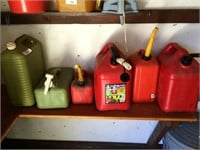 Lot of (4) Gas Cans, (2) Water Cans