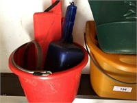 (2) Buckets, Watering Can, Seeder
