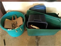 (2) Plastic Totes and Contents