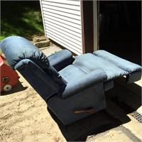 Lazy Boy Blue Reclining Chair