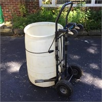 PVC Rain Barrel and Dolly