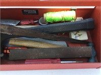 Tool Box, (2) Mallets, Screwdrivers