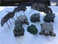 Yard Ornaments, Toads, Crickets, Turtles