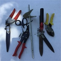 (3) Pairs  Clippers, Tin Snips, Auger