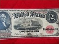 1917 $2 Jefferson paper note