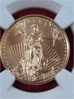 2009 Eagle Gold $10 coin MS69