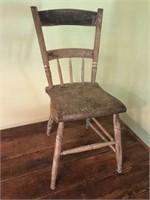 Primitive 5 Board Antique Table & Chair