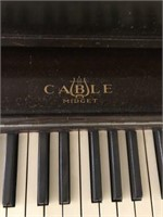 The Cable Co Midget Upright Piano, Bench & Lamp