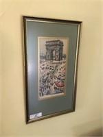 Framed Artist Signed Paris Print