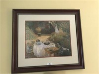 Monet Print & Small Basket/Box