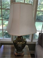 Pair of Oriental Style Brass Lamps