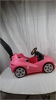 PINK PUSH CAR WITH HANDLE