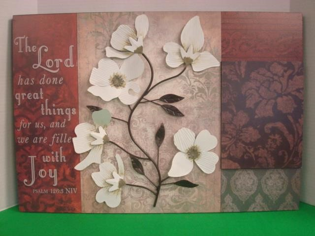 3d Wall Art With Metal Flowers Treasure Hunt Auctions