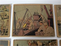 (9) 1938-41 WWII Gum Trading Cards