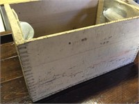 Wood Crate with Clamps, Socket Set