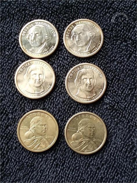Auctiontime Com 2000 P D Sacagawea Dollar Au Unc 2007 D Unc