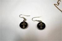 Assorted Earrings, Pins, Sterling Heart Pendant