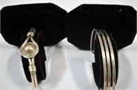 9 Bracelets and Tie Tack/Cufflink Set
