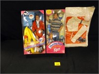 Ken Dolls and Outfits - 3 count