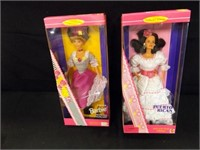 Dolls of the World Barbies - 4 count