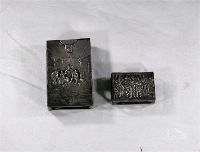 Tv Kast Wit Retro.Vintage Metal Cigarette Case Match Holder Other Items For Sale