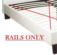 QUEEN BED SIDE RAILS WHITE  - RAILS ONLY