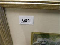 Victorian Print Matted and Framed