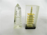 Paperweights; 1-75th Anniversary; 2-building