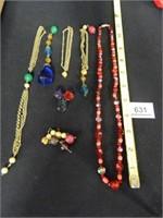 Beaded Bracelet; Necklace; Assorted Beaded items