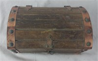 Very Cool Trinket Box Treasure Chest Wood Copper