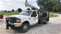 2000 Ford F550,  Simco drilling rig