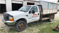 1999 Ford F550 with flatbed