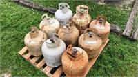 Qty. 9 - 20 gallon propane cylinders