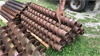"""Qty.16- 4 1/4""""hollow stem drill auger's"""