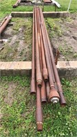 """1-5/8"""" — 2-5/8"""" 20 foot drilling rods"""