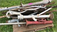 Pallet of hand pump wells