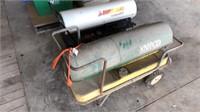 Direct heat 125 BTU salamander heater