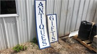 Antique and gift sign