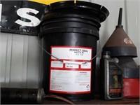 5 gallon perfect seal, grease gun, motor oil,