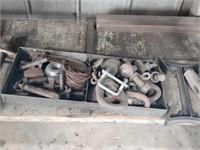 Metal assortment chain clips, hitch balls metal