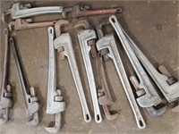 "Assorted large pipe wrenches 14"" -24"""