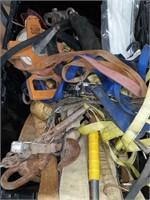 Straps, tie downs, measuring tape