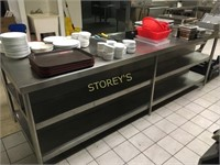 9' All Stainless Steel Welded Table With Shelf