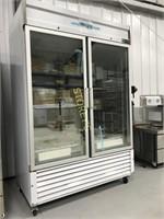 NEW ColdLine 2 Door Glass Freezer - Scratched On B