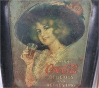Vintage Coca-cola Tray & Small Mirror