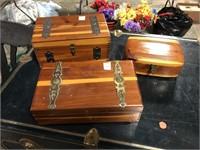 3 CEDAR BOXES