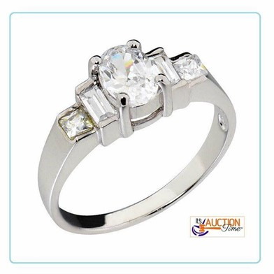 Sterling Silver Women Wedding Engagement Ring Sz6 Other Items For