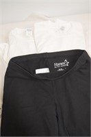 (2) White T-shirts & Shorts - size Med