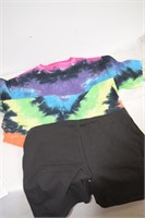 Tie Dye Shirt and Shorts Size Medium